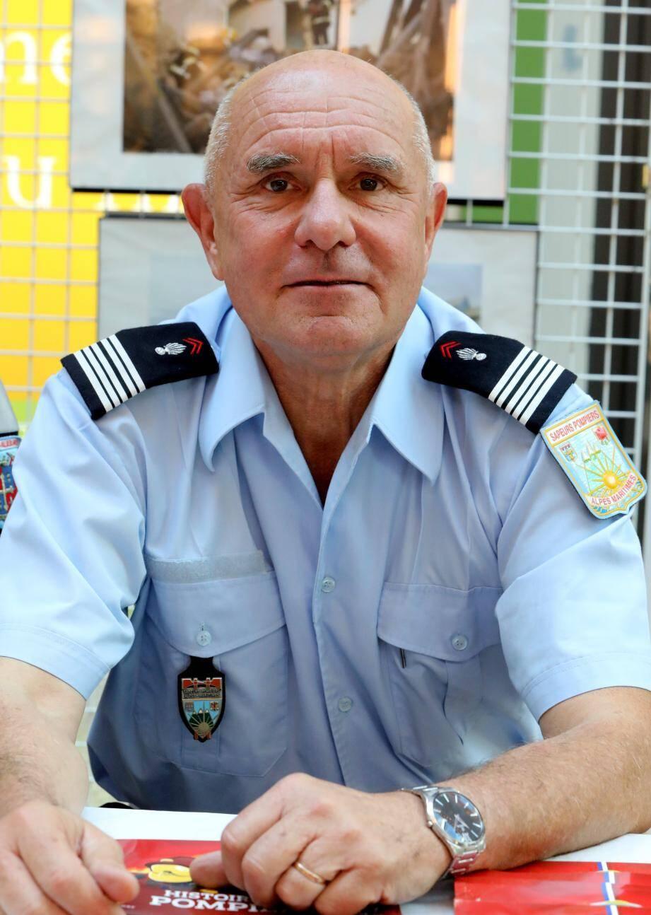 Le colonel Alain Leflon,  chargé de mission volontariat au SDIS.
