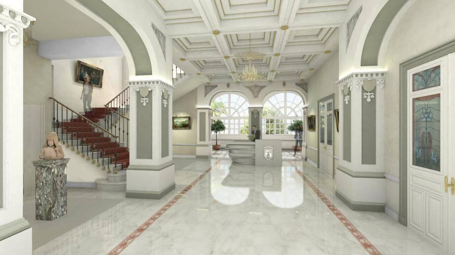 Réhabilitée et éclaircie, voici à quoi devrait ressembler l'entrée de la mairie au printemps prochain.