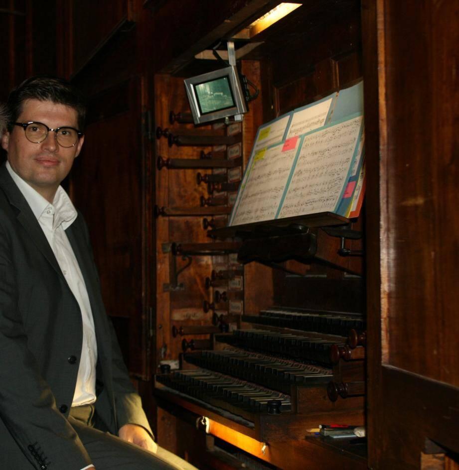 Brice Montagnoux est aussi professeur d'orgue au conservatoire de Toulon.