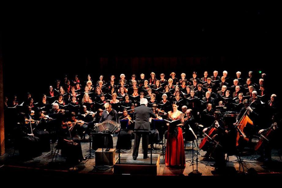 Le chœur régional de Provence-Alpes-Côte d'Azur sera accompagné par les cordes de l'orchestre de Cannes.