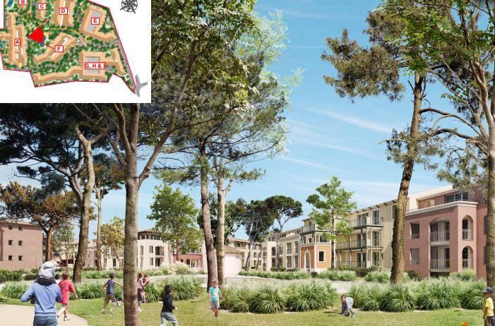"""Une vue du cœur du projet de """"parc habité"""". Les espaces verts resteront accessibles à tous."""