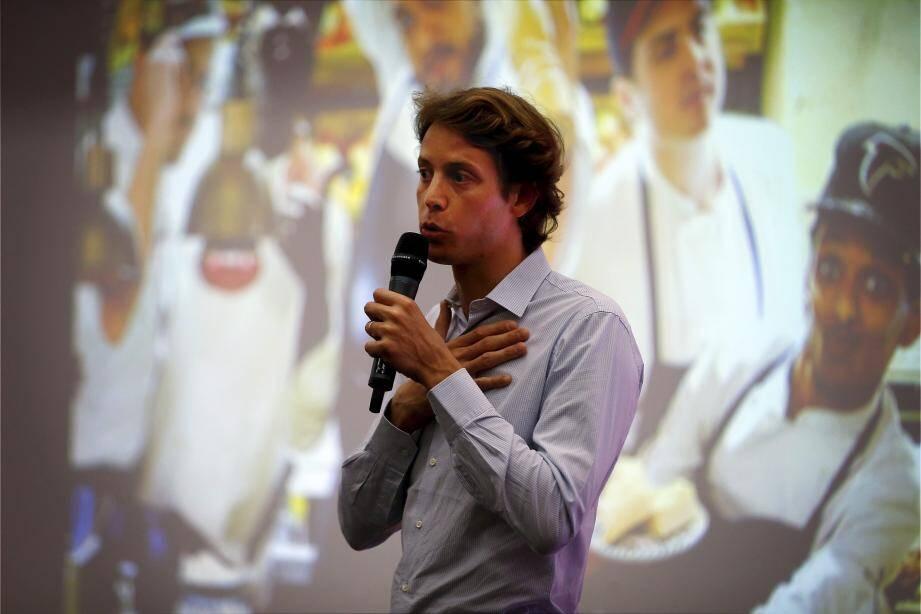 Le chef d'entreprise monégasque a été invité par la Monaco Méditerranée Foundation pour parler de son expérience devant nombre de lycéens de la Principauté.