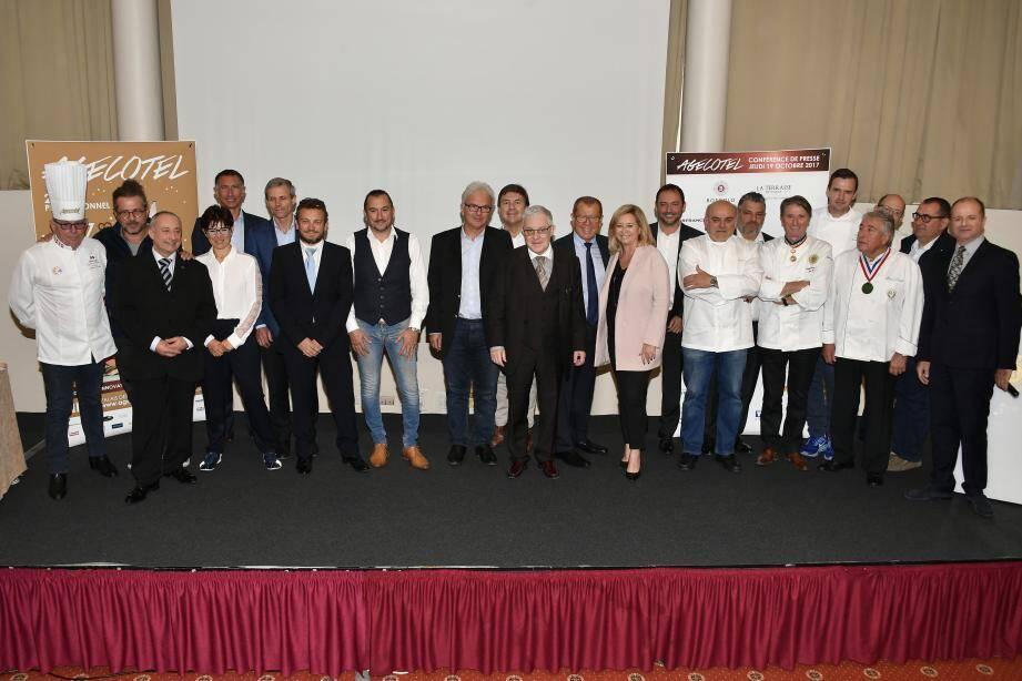 L'équipe de Nicexpo a tenu, au Boscolo Hôtel Plaza, sa traditionnelle conférence de presse de présentation de la 28e édition du salon Agecotel 2018, qui se déroulera du 4 au 7 février prochain.(              DR)