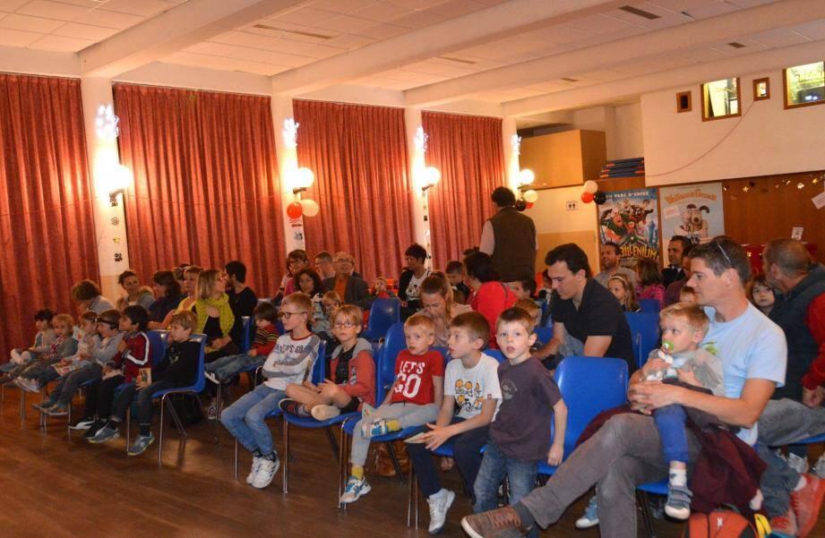 Première séance hier avec un film destiné aux trois ans et plus, y compris les parents !