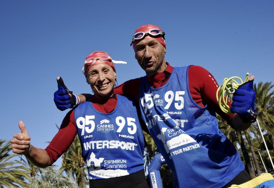 Cathy et Christian Gouesse, vainqueurs en 1h45'22''.