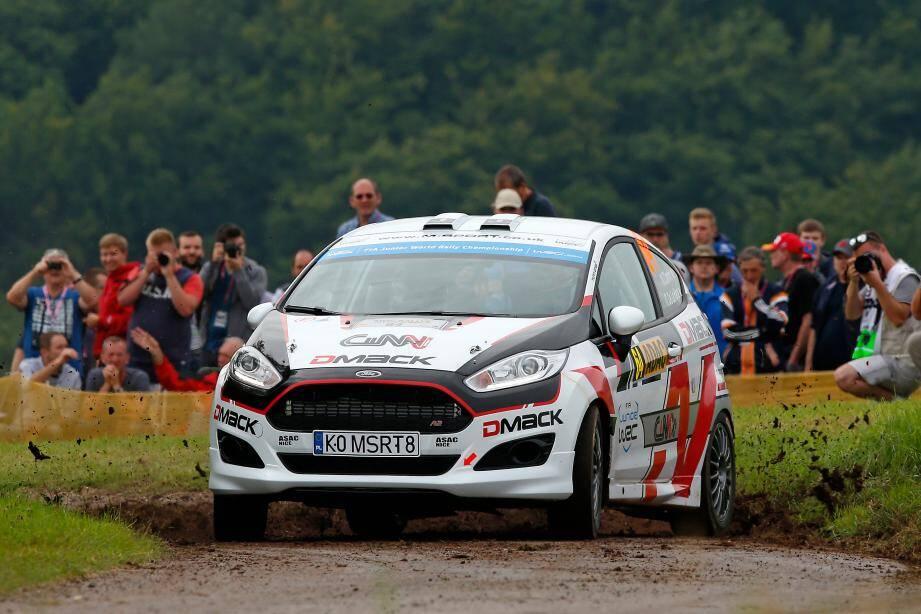 Vice-champion du monde Junior 2017, à seulement dix-neuf ans, Nicolas Ciamin peut remiser son auto-école (Ford Fiesta R2, ici au Rallye d'Allemagne) et dégainer le calibre supérieur. Cap sur le WRC2 !