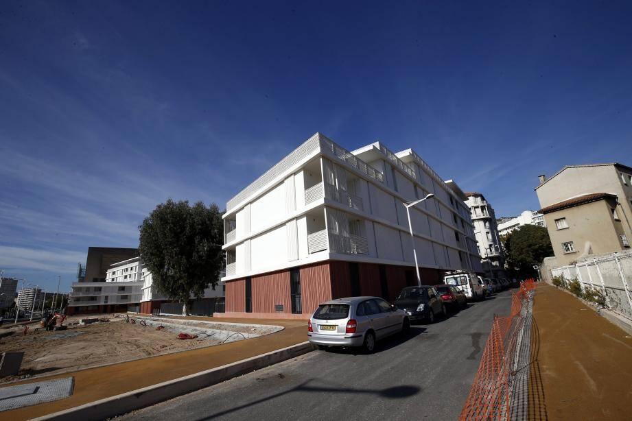 Le nouveau bâtiment HLM de la Solde, à la porte de Castigneau, doit être livré à la fin de l'année.