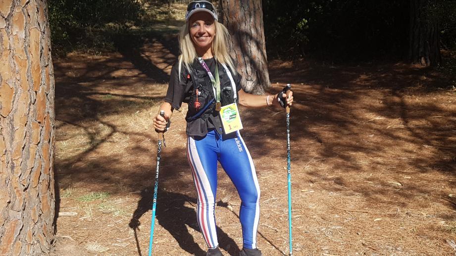 """La Fréjusienne Sylvie Marin championne de France de trail """"court""""."""