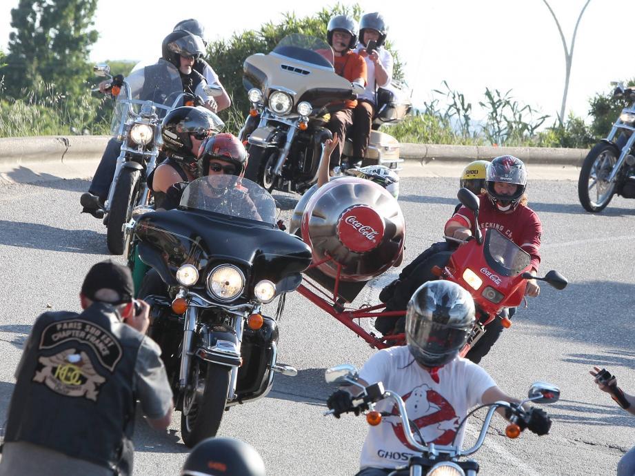 L'Euro Festival Harley, décalé au mois de juin : une aubaine pour les commerçants du Golfe ? à vérifier lors de l'édition 2018, toujours à Grimaud.(Ph. Ph. A.)
