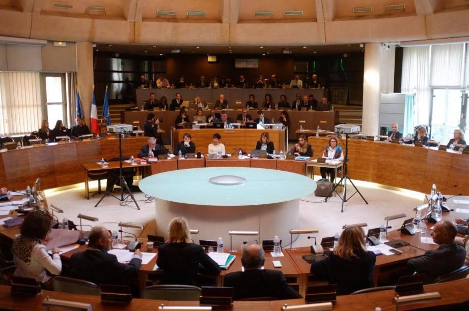 La séance plénière du Département du Var, ce mardi.