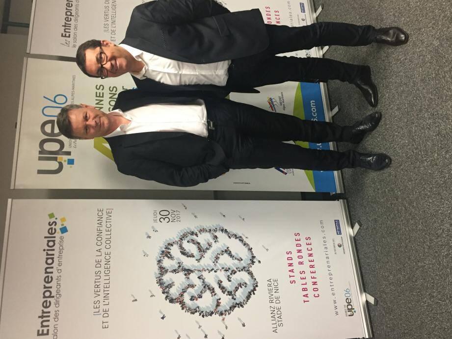 Philippe Renaudi (à gauche sur la photo) et Bruno Valentin : « La confiance, ressort de l'économie, sera le fil rouge de la seizième édition.