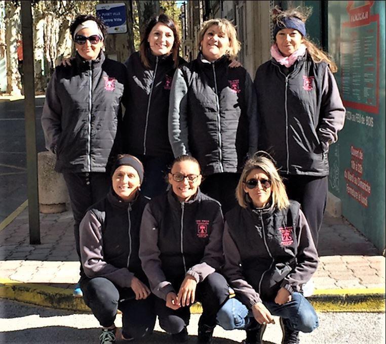 Les boulistes de l'équipe féminine de l'association « Les pieds tanqués » ont battu en finale les joueuses de Boulouris - Saint-Raphaël.