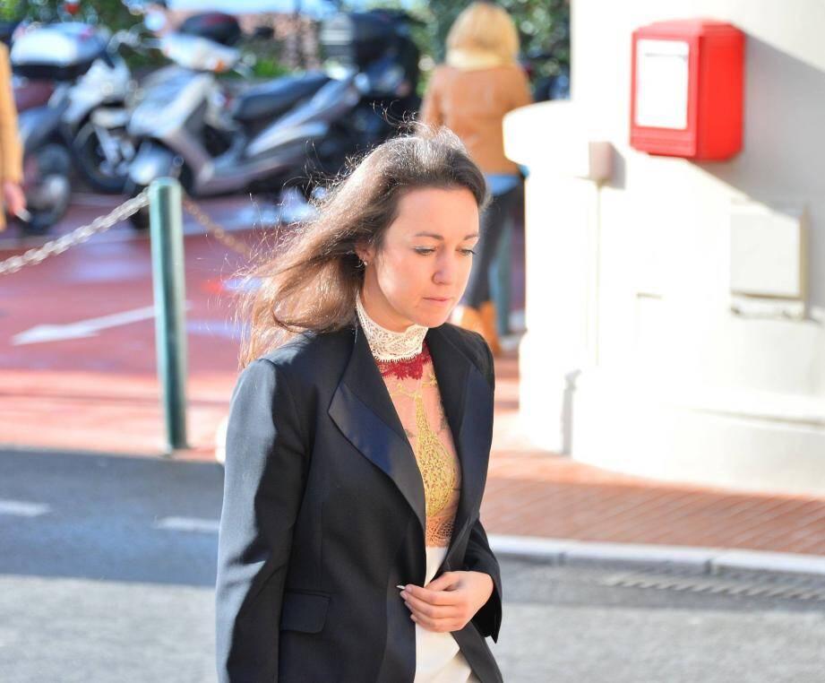 Tetiana Bersheda lors d'une précédente audition par le juge monégasque.
