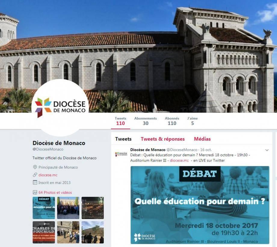 Le diocèse de Monaco a décidé de diffuser un débat en direct sur Twitter et Periscope.