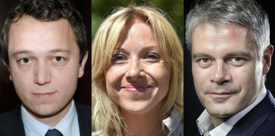 Maël de Calan, Florence Portelli et Laurent Wauquiez, candidats à la présidence de Les Républicains.