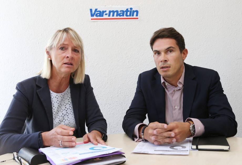 Françoise Dumont, ici au côté de Guillaume Decard également sanctionné par le maire de Saint-Raphaël en juin dernier.
