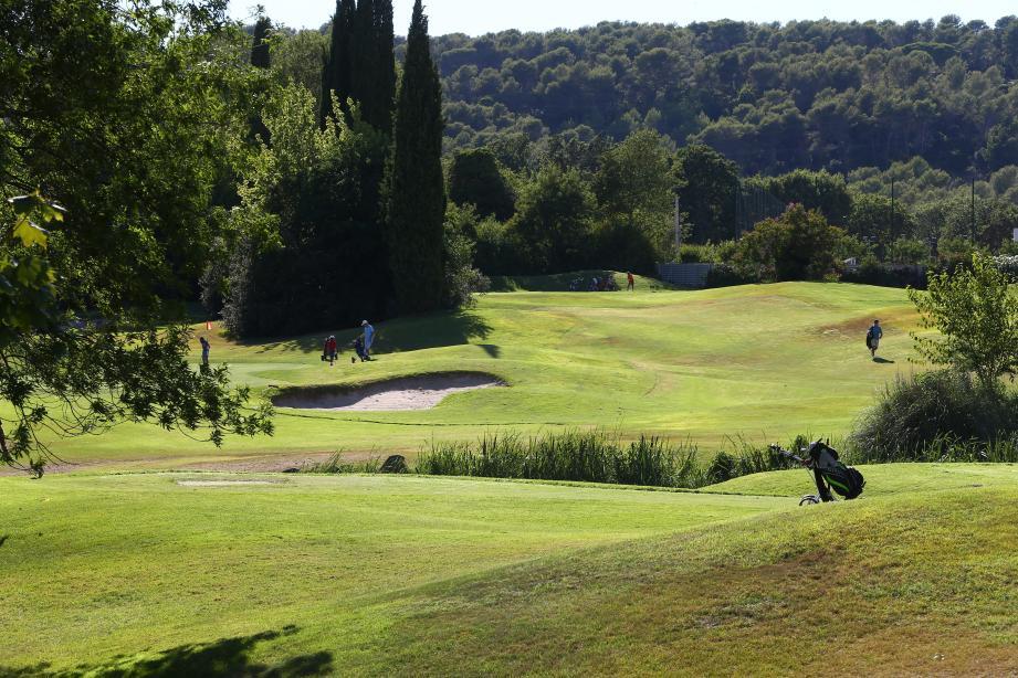 Le golf de Saint Donat à Grasse.