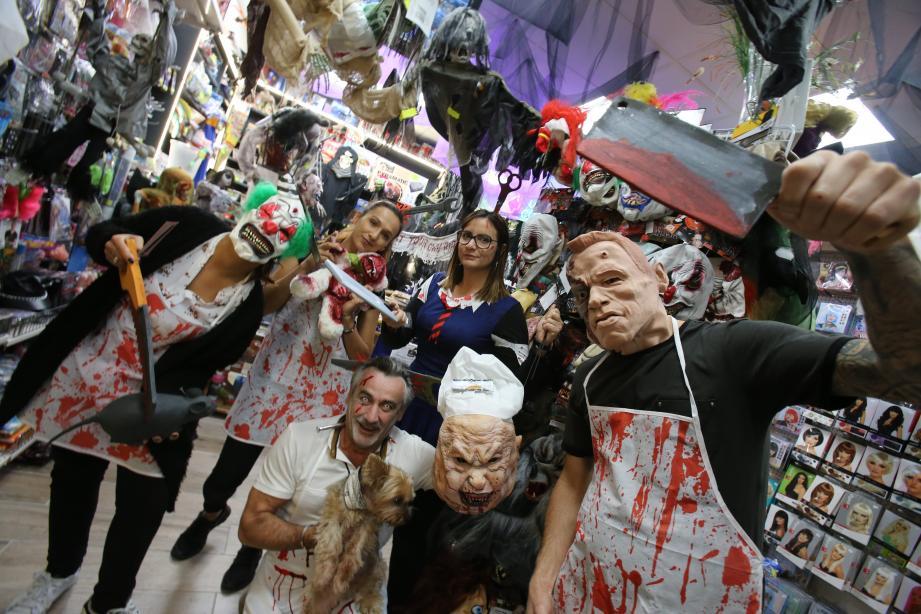 Chez Festival à Nice, Frédéric Minière (au centre) et son équipe ont joué le jeu à sang pour sang.