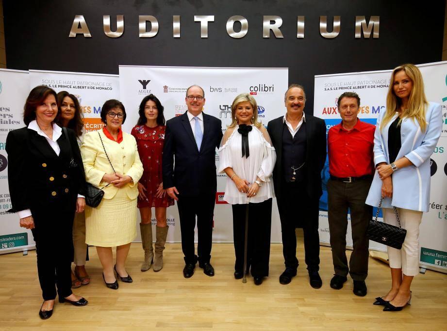 jury concours d'écriture numérique francophone Au Coeur des mots en présence du prince Albert II de Monaco et Adriana Karembeu CONCOURS AU COEUR DES MOTS