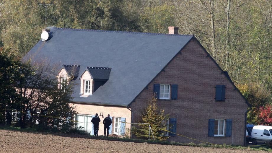 La maison dans laquelle une famille a été retrouvée morte ce mardi dans l'Aisne.