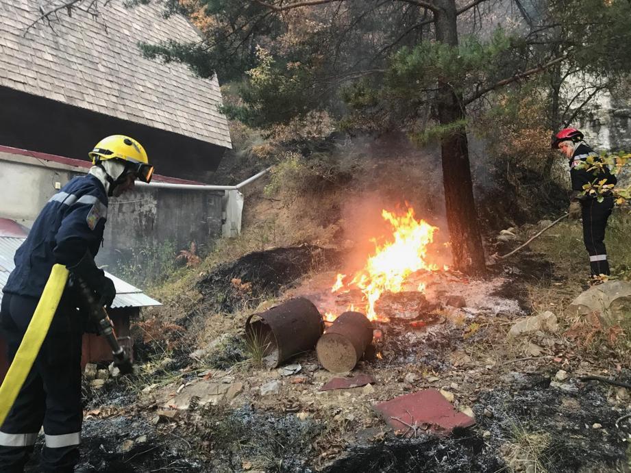 Le feu n'a fait aucune victime.