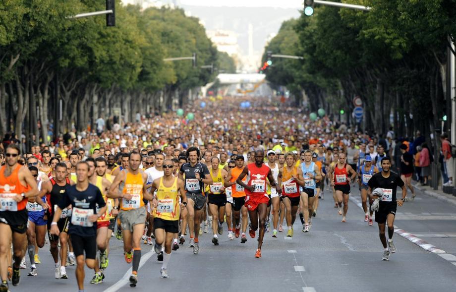 Le départ de la course Marseille-Cassis en 2009.