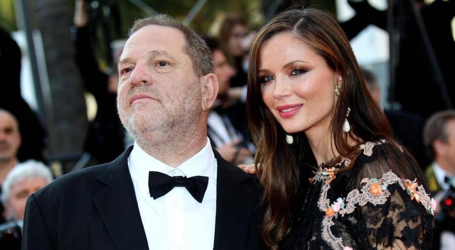 Le producteur américain Harvey Weinstein et sa femme Georgina Chapman, en 2015 à Cannes.