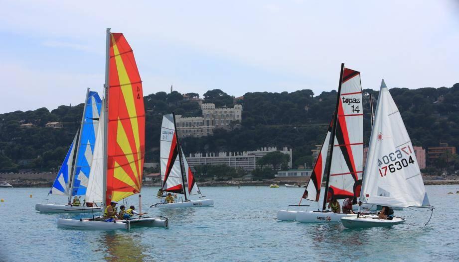 La base nautique de Roquebrune-Cap-Martin accueille aussi la fête annuelle du centre de voile.