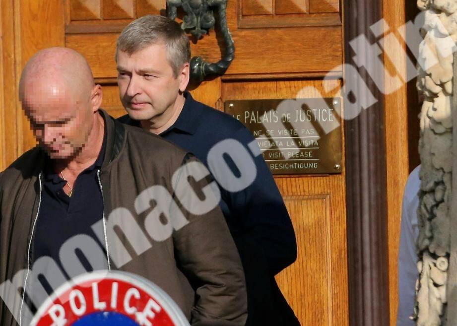 Dmitri Rybolovlev à sa sortie du Palais de justice ce jeudi 19 octobre 2017.