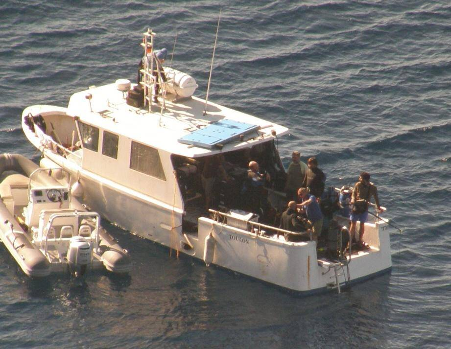 Le navire de pêche Titof a été affrété par la production.