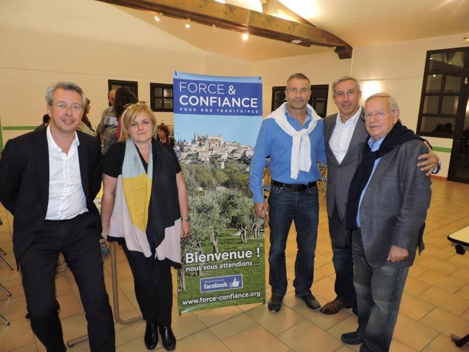 S. Koerig, F. Cavallier, D. Pugnères, M. Orféo et J.L Antonini, confiants pour Force et Confiance.