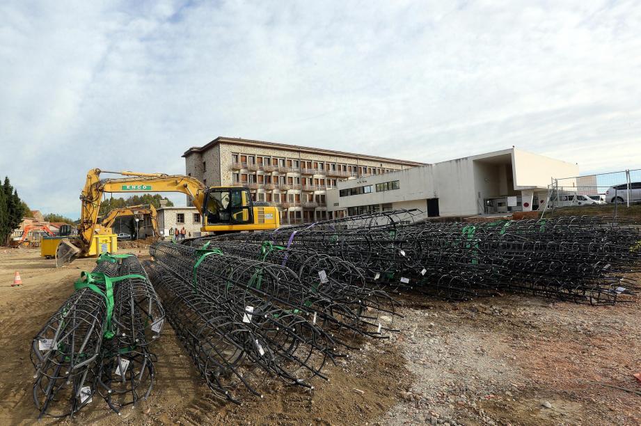 Le chantier a démarré le mois dernier.
