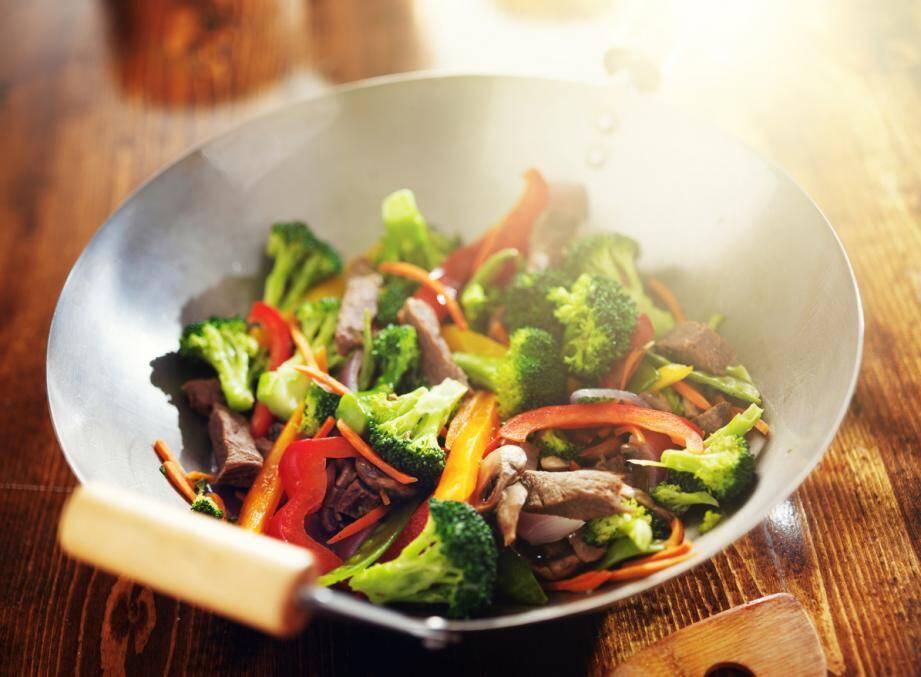 LA RECETTE DU JOUR. Wok de bœuf et légumes croquants