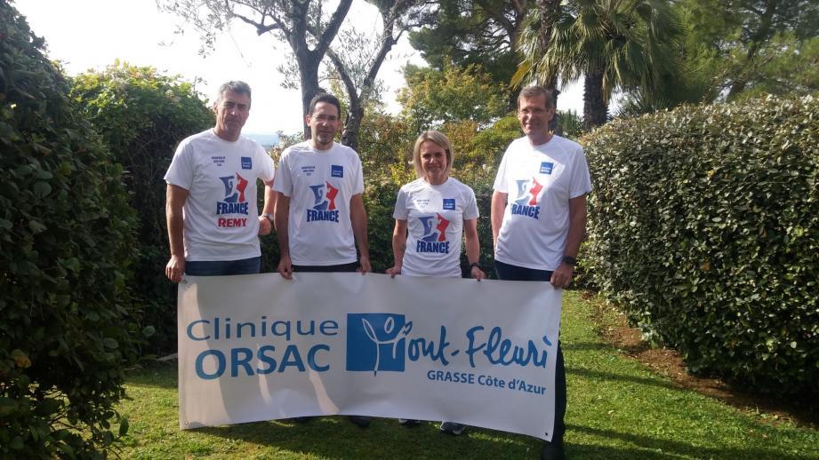 Les 4 coureurs d'ORSAC qui partent à NY.