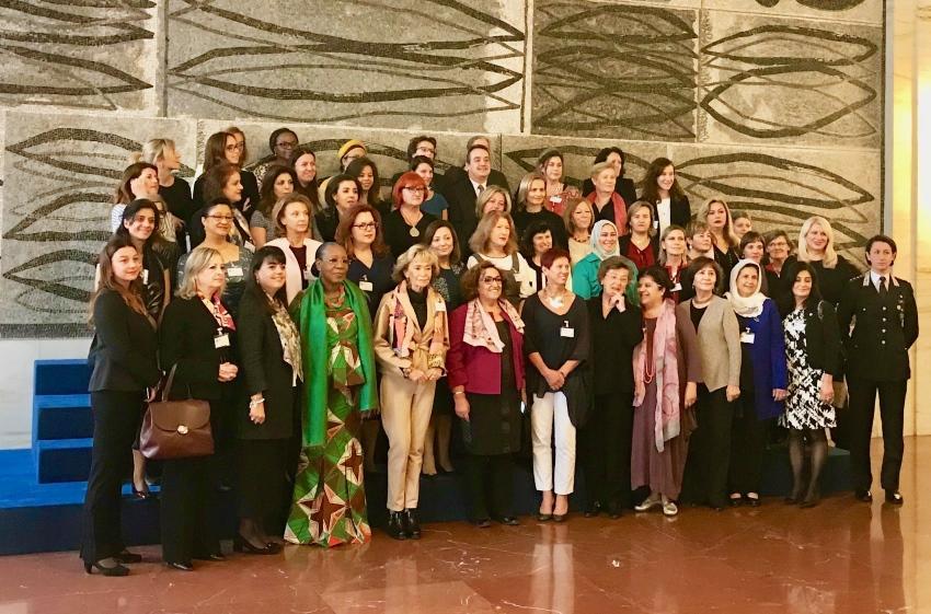 Les membres du Réseau des femmes médiatrices pour la région Méditerranée.(DR)