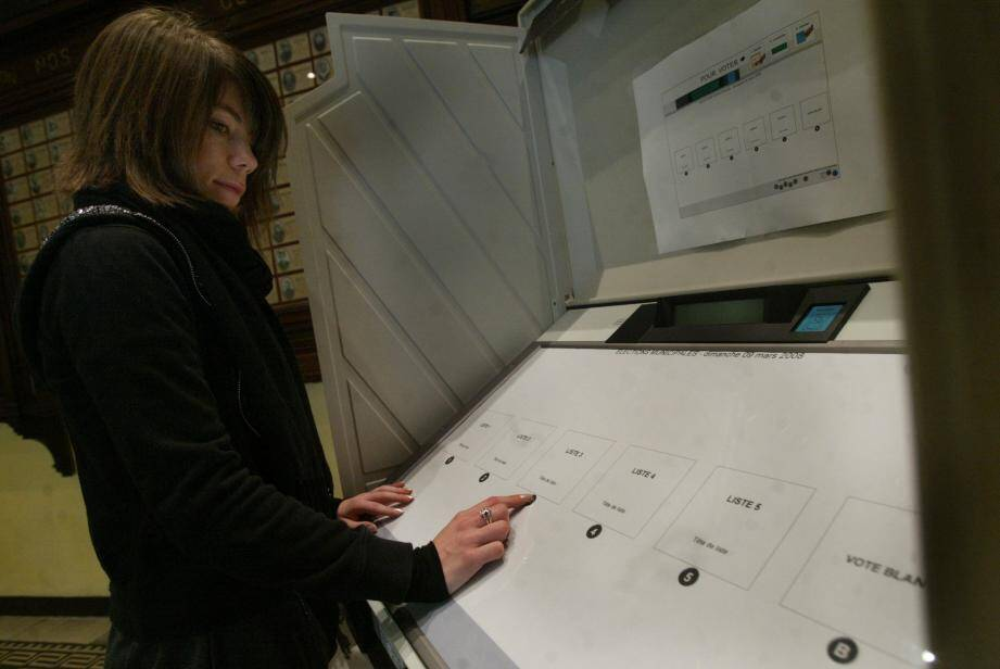 Vingt bureaux sont équipés de machines à voter, sur un total de soixante-sept.