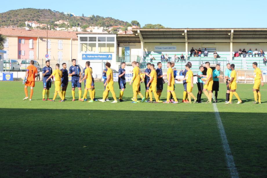 Hyérois et Toulonnais n'ont pas pu se départager hier après-midi.