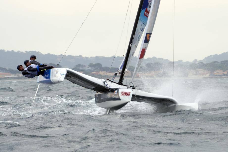 Par mesure de sécurité, les Diam 24 n'ont pas couru, hier. Mais l'équipage TPM avait assuré sa 2e place samedi, dans des conditions mouvementées.