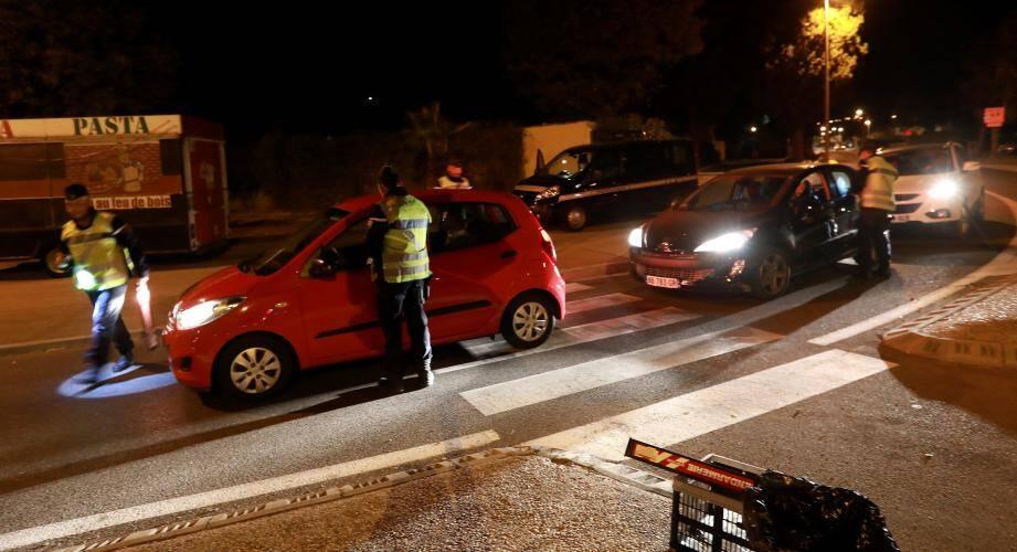 Opération anti conduite addictive, samedi 28 octobre à La Crau.