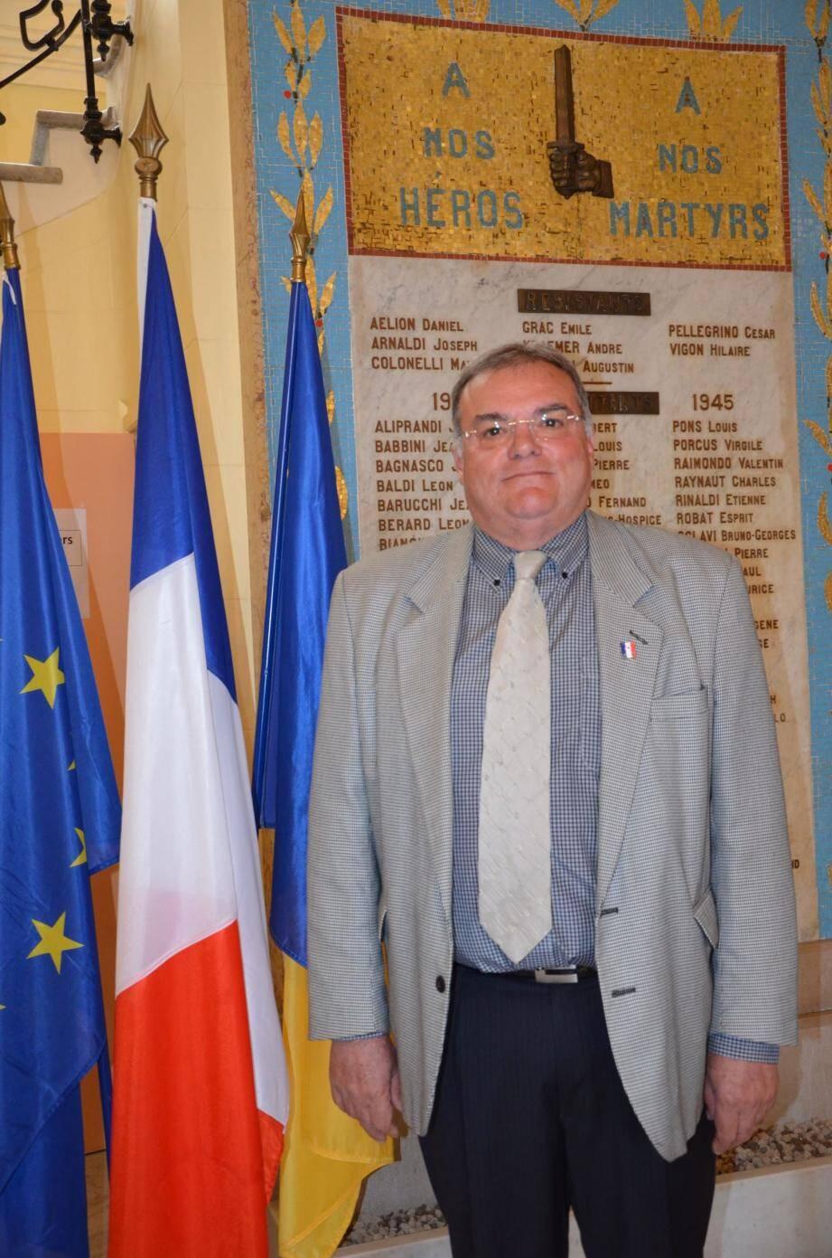 Marc Terrosi, président de l'UNC section Beausoleil-Monaco-Cap-d'Ail.