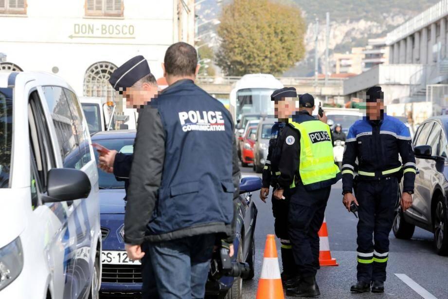 Lors d'un contrôle routier, avenue Maréchal-Lyautey, le 2 novembre.