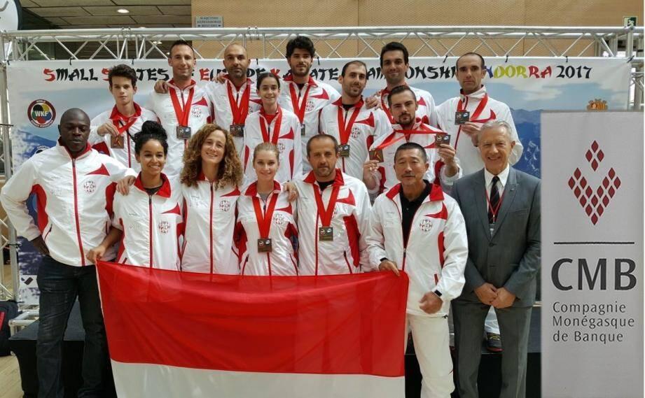 Les athlètes du Karaté Club Shotokan ont porté haut les couleurs monégasques.(DR)
