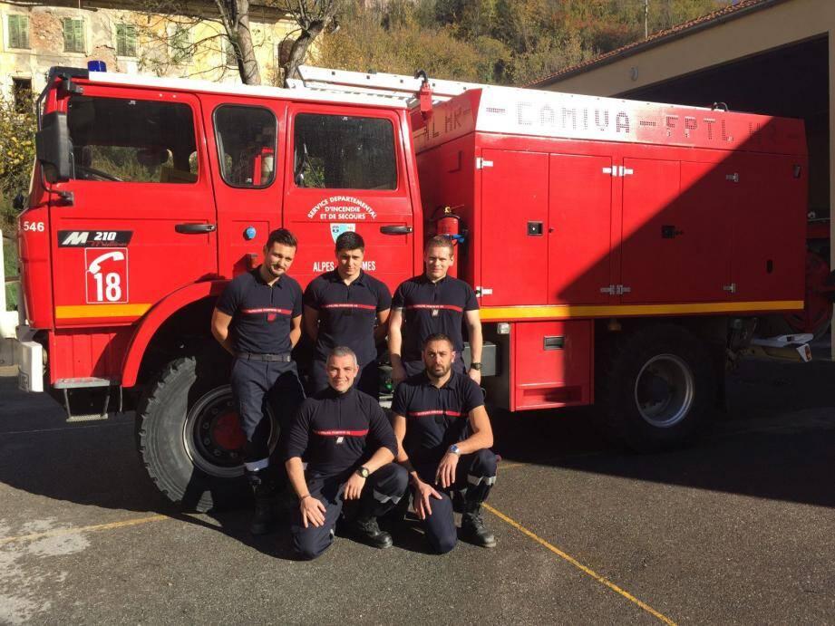 Anthony, Lauris et Patrice, ainsi que Fabrice et Manu, sans oublier Claude, ces sapeurs-pompiers volontaires vont courir en équipe. Pour allier convivialité, sportivité et générosité samedi au No Finish Line. (DR)
