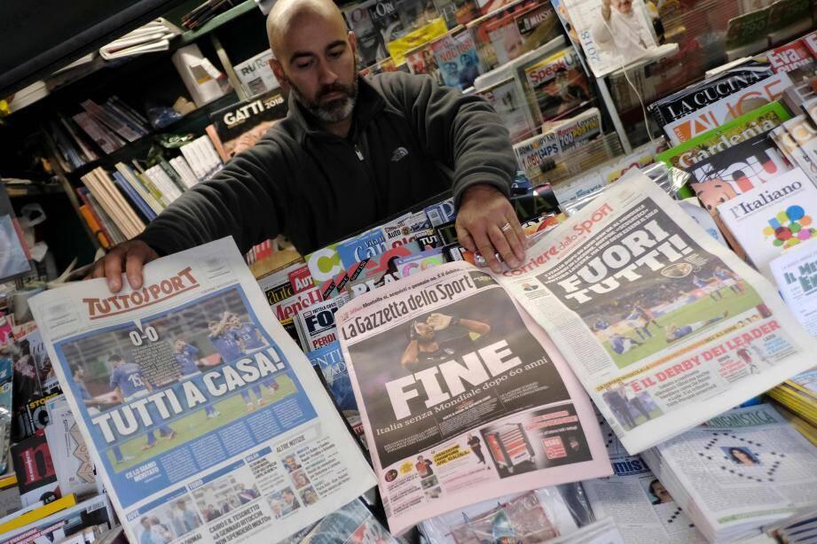 La presse a tiré à boulets rouges sur la Squadra.(AFP)