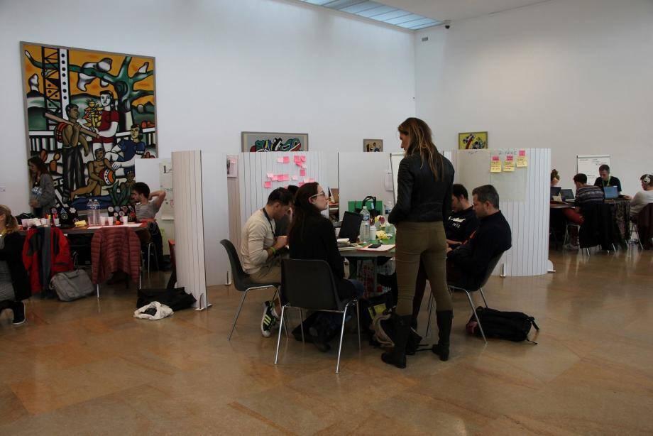Durant trois jours, les participants ont planché sur l'attraction du musée Fernand Léger.
