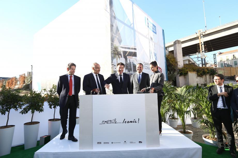 Le projet Iconic de la gare Thiers va participer « à la métamorphose de notre tissu urbain », a appuyé, hier, Christian Estrosi.
