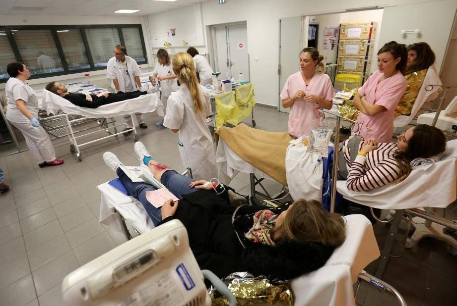 Les urgences lors d'une journée d'entraînement et de simulation.