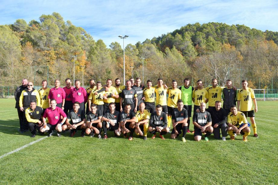 Les Tropéziens en jaune ont remporté une belle victoire.