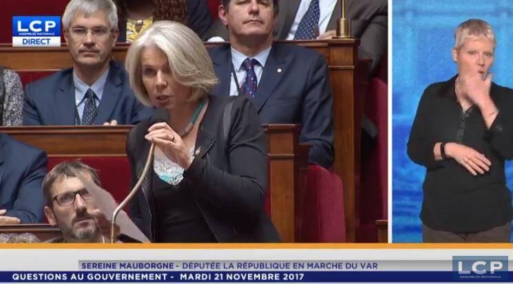 La députée de la circonscription a décrit « l'accumulation de l'horreur » en Libye, hier lors des questions au gouvernement.(Capture d'écran LCP)