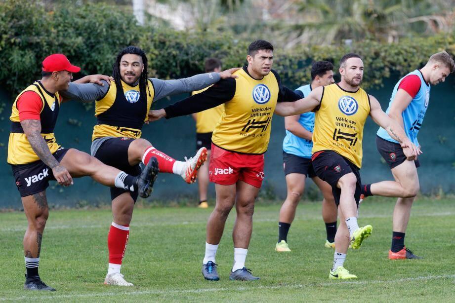 Fekitoa, Nonu, Lakafia, Mathewson et l'ensemble des Toulonnais avaient retrouvé le sourire, hier matin à l'entraînement.